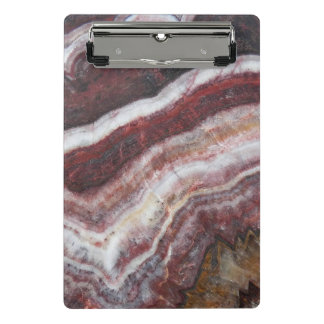 Red Banded Agate Pattern Mini Clipboard
