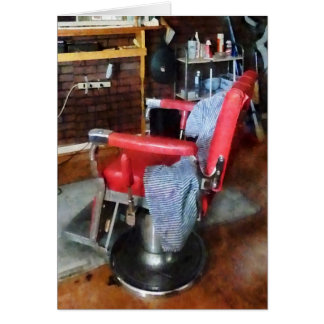 Red Barber Chair Greeting Card