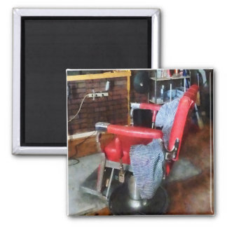 Red Barber Chair Magnet