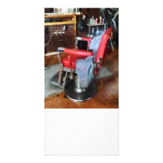 Red Barber Chair Photo Card
