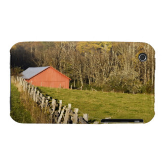 Red barn and fencerow along the Blue ridge iPhone 3 Cases