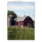 Red Barn and Silo Card