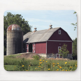 Red Barn and Silo Mouse Mat