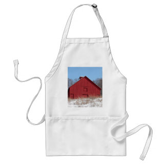 Red barn aprons