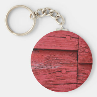Red Barn Basic Round Button Key Ring