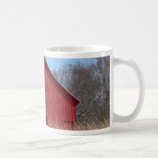 Red barn basic white mug
