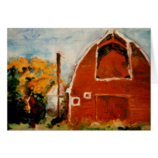 Red Barn Card