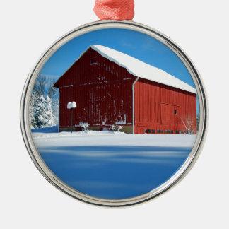 Red Barn Christmas Tree Ornaments