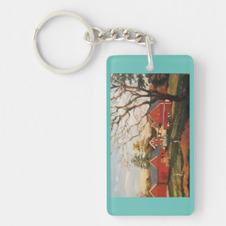 Red Barn cluster key chain