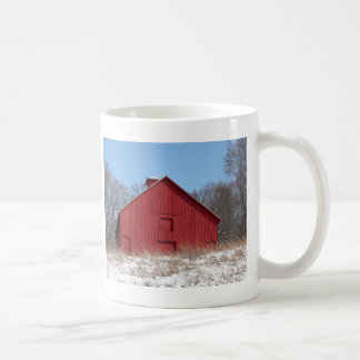 Red barn coffee mugs