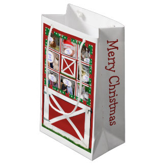 Red Barn Door Custom 8 or 16 Photo Gift Bag