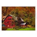 Red Barn in Autumn Card