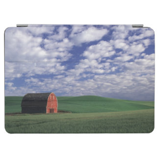 Red barn in wheat & barley field in Whitman 2 iPad Air Cover