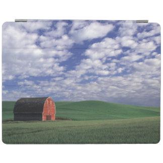 Red barn in wheat & barley field in Whitman 2 iPad Cover