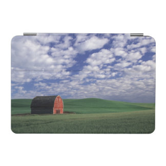 Red barn in wheat & barley field in Whitman 2 iPad Mini Cover