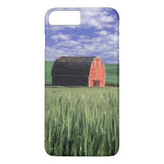 Red barn in wheat & barley field in Whitman 2 iPhone 8 Plus/7 Plus Case