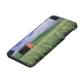 Red barn in wheat & barley field in Whitman 2 iPod Touch (5th Generation) Cover