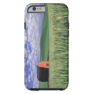 Red barn in wheat & barley field in Whitman 2 Tough iPhone 6 Case
