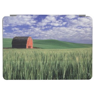 Red barn in wheat & barley field in Whitman iPad Air Cover