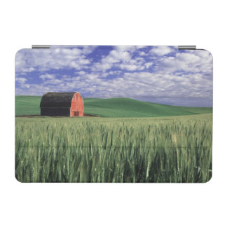Red barn in wheat & barley field in Whitman iPad Mini Cover