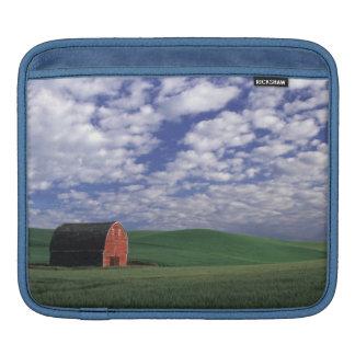 Red barn in wheat & barley field in Whitman iPad Sleeve