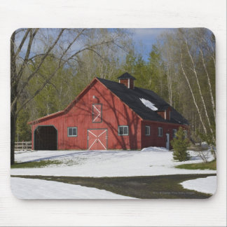 Red Barn In Winter Mouse Mat