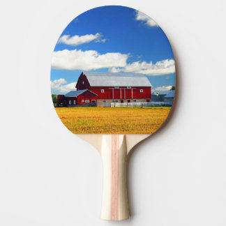 Red Barn Ping Pong Paddle