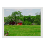 Red Barn Scenic Photograph Poster