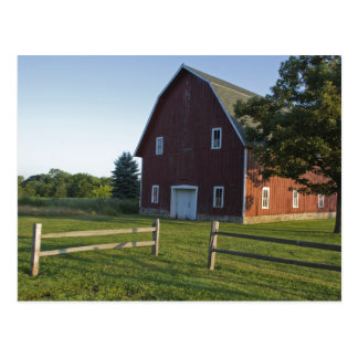 Red Barn with Fence Postcards