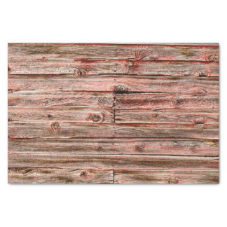 red barn wood tissue paper