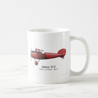Red Baron aka Manfred von Richthofen and his plane Coffee Mug