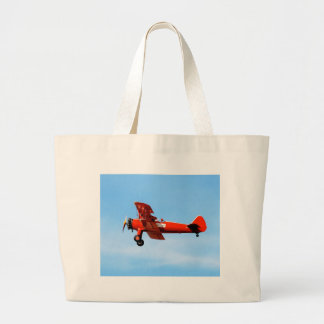 Red Baron Bi Plane Large Tote Bag