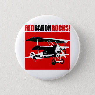 Red Baron Rocks! 6 Cm Round Badge