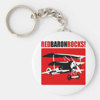 Red Baron Rocks! Key Ring