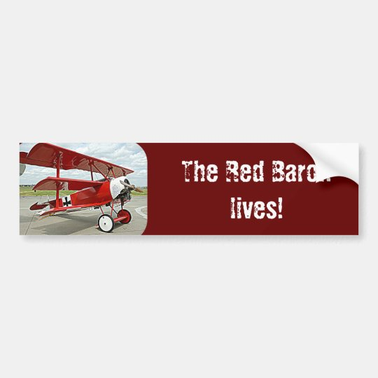 Red Baron's triplane Bumper Sticker