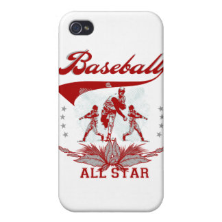 Red Baseball All Star T-shirts and Gifts iPhone 4 Cases