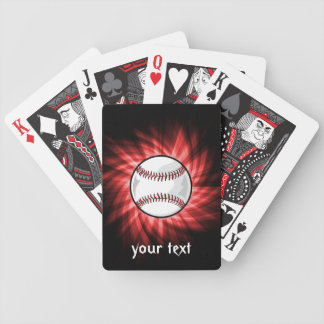Red Baseball Bicycle Playing Cards