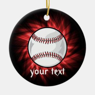 Red Baseball Christmas Ornament
