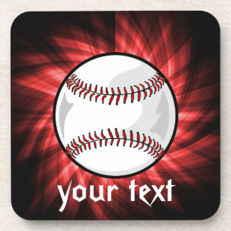 Red Baseball Coaster