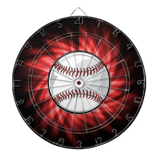 Red Baseball Dartboard
