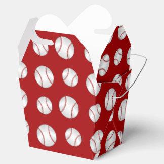 Red baseball favour box