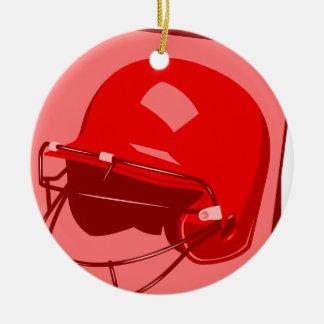 red baseball helmet logo christmas ornament