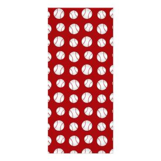 Red baseball custom rack card