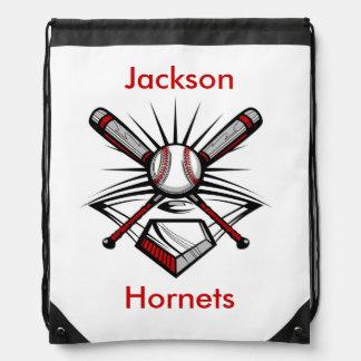 Red Baseball Softball Personalized Backpack