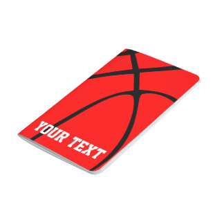 Red Basketball Coach or Team Custom Text Notepad Journal