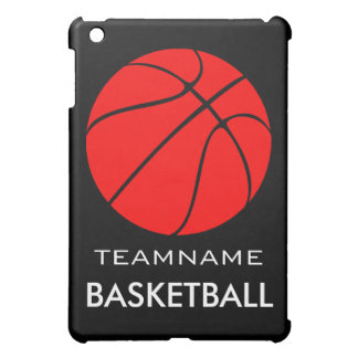 Red Basketball Custom Team Name iPad Mini Case