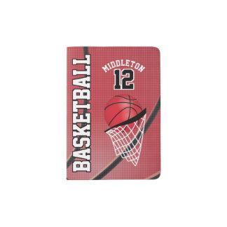 Red Basketball Design | Personalize Passport Holder