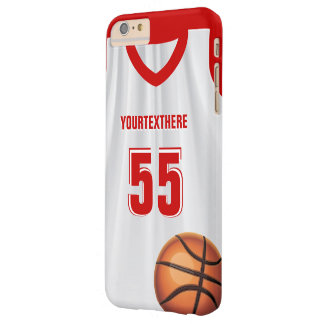 Red BasketBall Dress Name Number Barely There iPhone 6 Plus Case