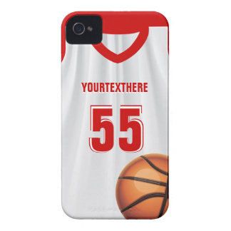 Red BasketBall Dress Name &  Number iPhone 4 Case-Mate Cases