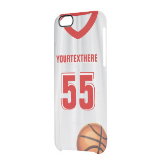 Red BasketBall Dress Name Number Uncommon Clearly™ Deflector iPhone 6 Case